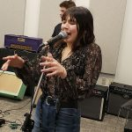 Uptown Music Collective Student, Cece Lutz performing in rehearsal for Tom Petty Show on April 12th & 13th at the Community Arts Center.