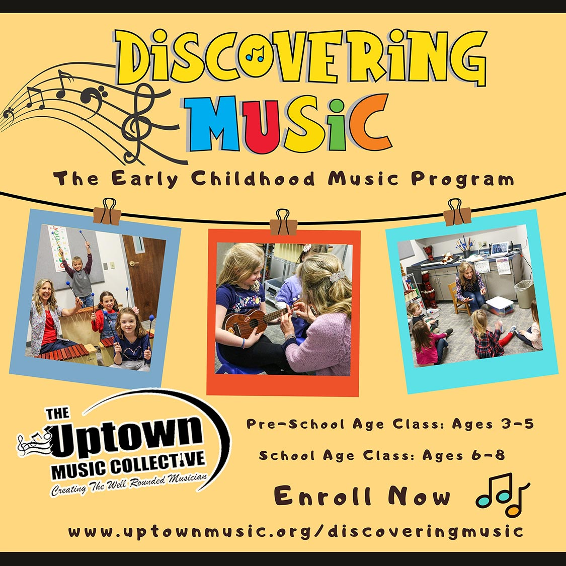 Now Enrolling for Discovering Music Program for Fall of 2021